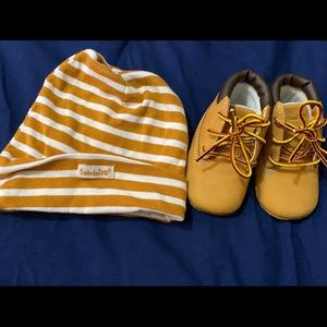Timberland Boots w/ Hat